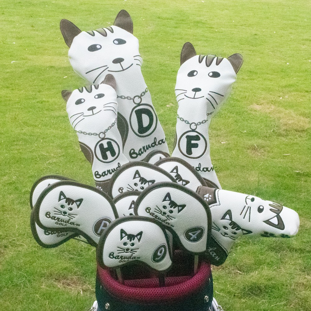 2 golf club head covers for drivers utility rescue fairway clubs,golf club headcovers, driver cover,utility cover,rescue cover fairway wood cover,UT cover