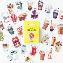 1pcs I Love Drinks and a Variety of Drinks Stickers Wall Stickers For Kids Rooms Boys Girls Children Bedroom Home Decoration(China)