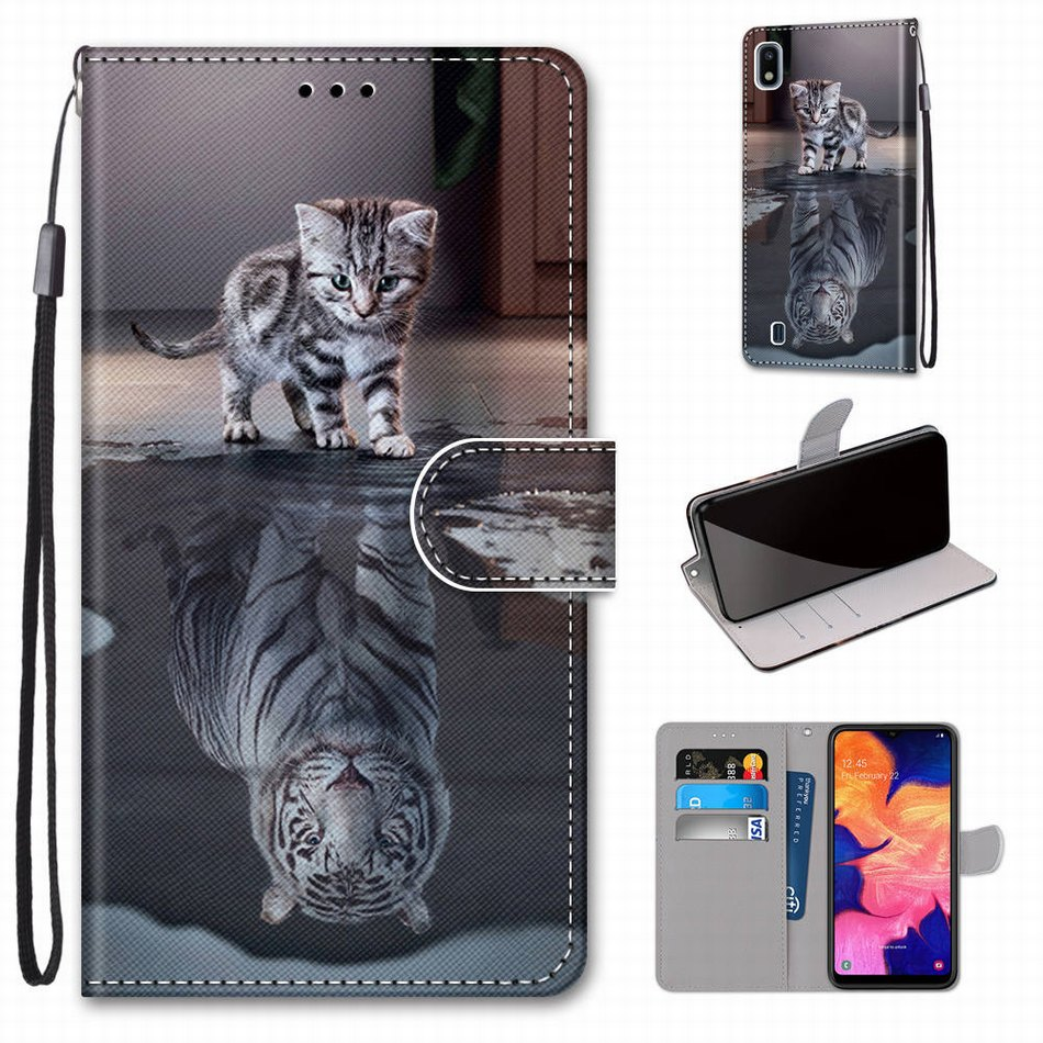 Animal Pattern Kids Holster For Redmi Y1 Y2 S2 Redmi K20 K30 Note 8T <font><b>8</b></font> 7 6 Pro <font><b>Mi</b></font> CC9 CC9E Cat Tiger Wolf <font><b>Magnet</b></font> Phone <font><b>Case</b></font> V08F image