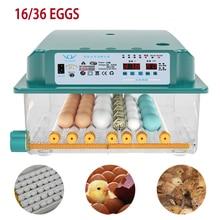 16/36 Eggs Fully Automatic Incubator Brooder Hatchery Incubator Turner Household Farm Hatcher Machine Goose Quail Chicken Eggs