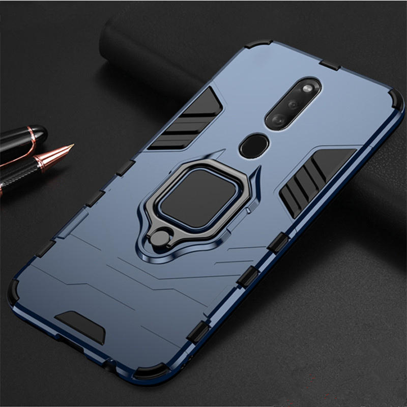 Luxury Armor Soft For <font><b>OPPO</b></font> F11 Pro Silicone Car Holder Ring Cover For A39 <font><b>A57</b></font> A5 A3S AX5 A7X F9 K1 A9 Shockproof Protective <font><b>Case</b></font> image