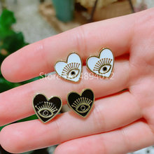 10pair,Stud Earrings, Women Fashion Jewelry,  Hearts and Eyes Design .2Colors, Top Quality Plated,Can Wholesale.
