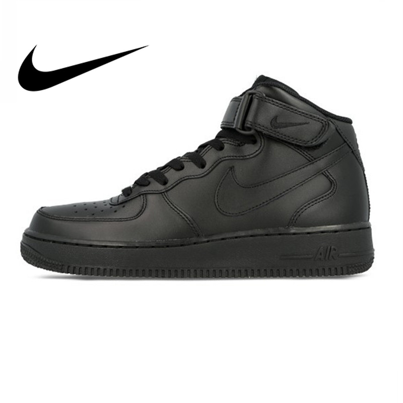 Nike Air Force 1 AF1 Original Official Breathable Men's Skateboarding Shoes Sports Sneakers Classique High Flat Breathable