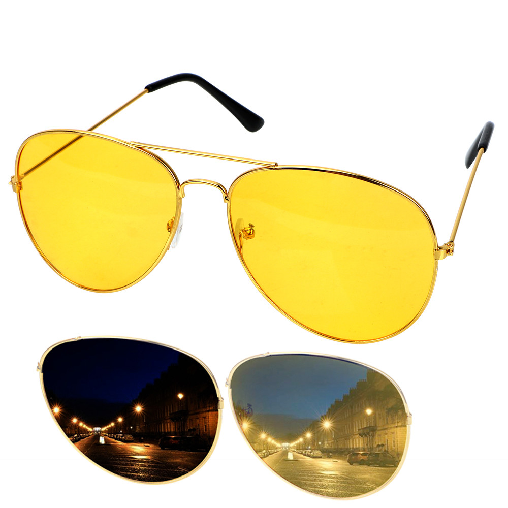 Anti-glare Glasses Drivers Night Vision Goggles Car Driving Glasses Yellow Unisex UV Protection Sunglasses HD Vision Sun Glasses