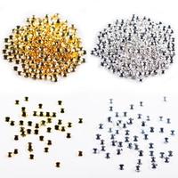 10000Pcs / Bag High Quality Hot New Metal Gold and Silver Round Rivet Rhinestone DIY Nail Art Jewelry Decoration 0.8 3.0mm