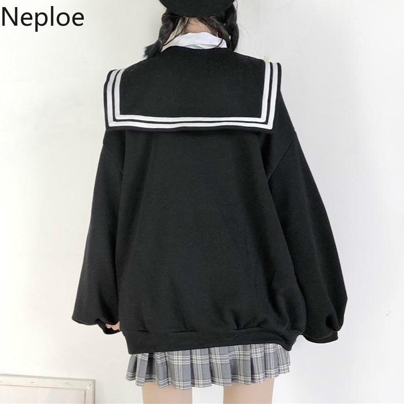 Fashion Coats And Jackets Women Pockets Solid Sailor