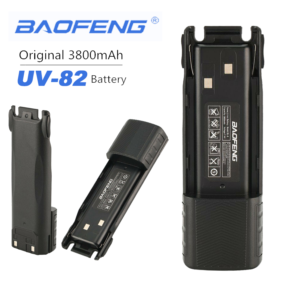 New 100% Original Baofeng UV-82 3800 MAh Enlarge 7.4V Extended Standby Rechargeable Li-on Battery For Baofeng UV82 Walkie Talkie