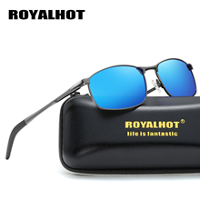RoyalHot Men Women Retro Polarized Aloy Rectangle Frame Sunglasses  Driving Sun Glasses Shades Oculos masculino Male 900119