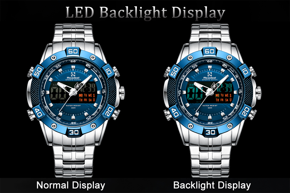 Hcca827579fc54aeb86790267178d940aR 2020 Luxury Brand Waterproof Military Sport Watches Men Silver Steel Digital Quartz Analog Watch Clock Relogios Masculinos