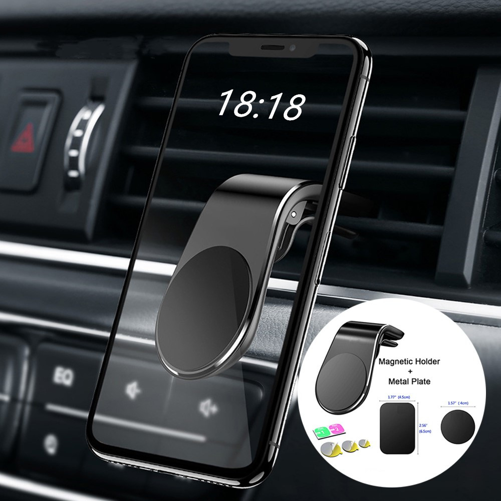 Air Vent Mount Stand Magnetic Clip Car Phone Holder L Shape Phone Mount For Magnetic Phone Holder  Phone Holder  360 Holder