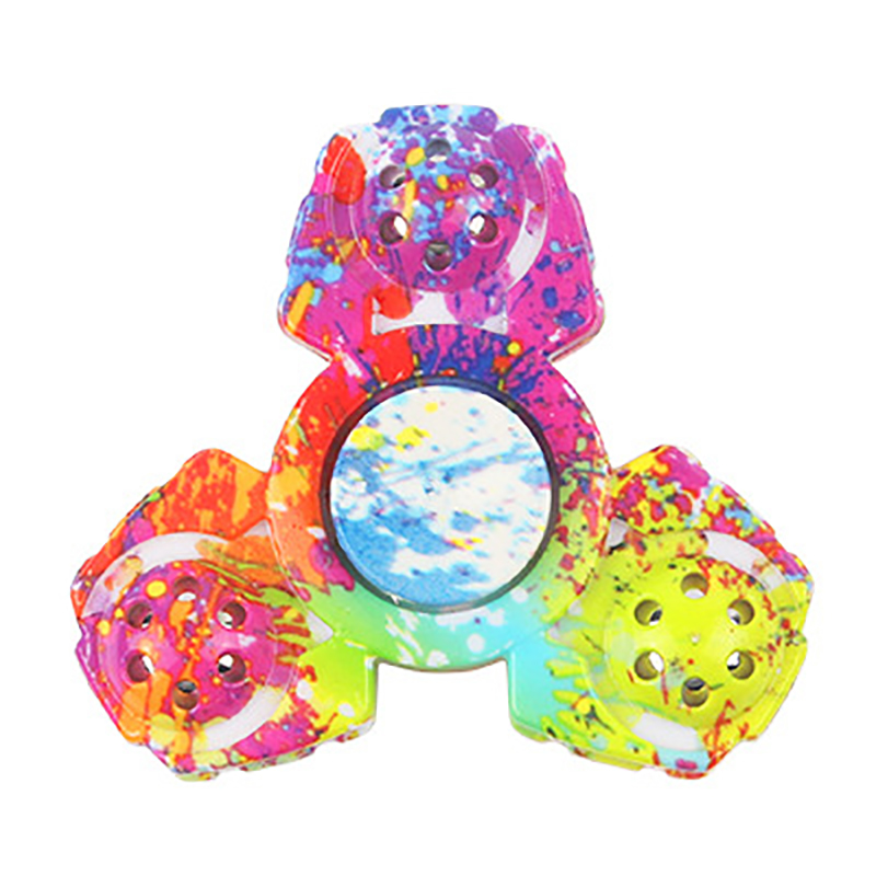 Painted Hand Spinners Iron Bead Bearing R188 688 Fingertip Gyro Kids Colorful Fidget Spinners Metal Polygon Toys Relief Stress enlarge