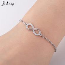 Jisensp браслет из нержавеющей стали для влюбленных пар, браслет на цепочке, ювелирное изделие