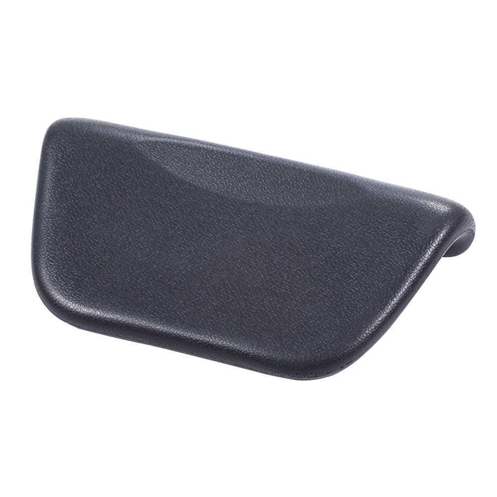 Bañera suave Spa cojín ergonómico antideslizante copa de succión cómoda PU de cuero accesorios para almohadas baño en casa