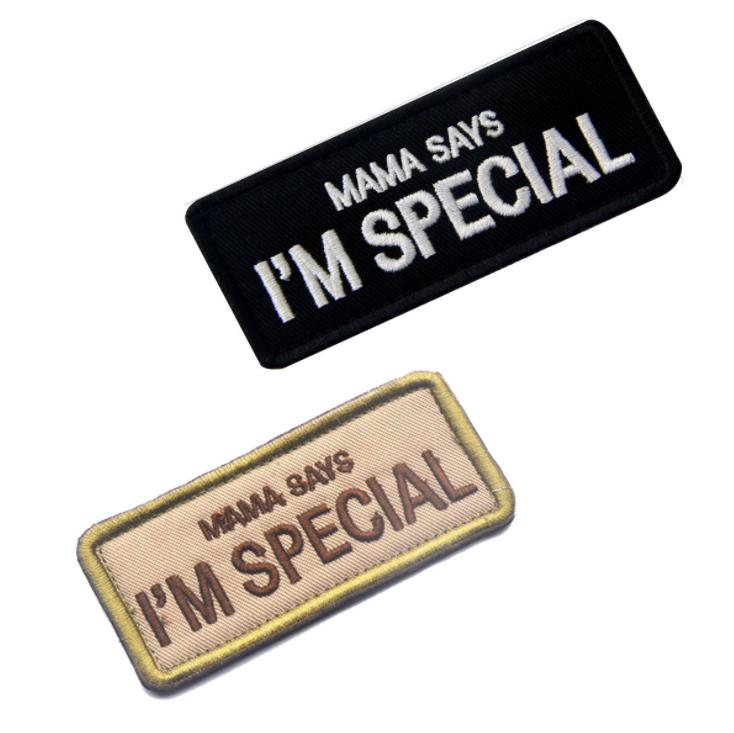 Embroidered MAMA Says I Am Special Patch Funny Morale  BIKER Motorcycles Tactical Patches Army Airsoft Outdoor  Custom