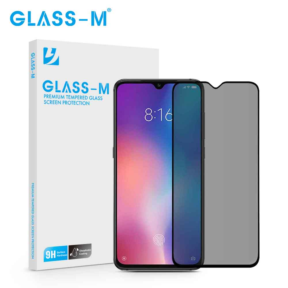 GLASS-M Privacidade Temperado Vidro De Proteção Para Red mi K20 Pro Tela De Vidro Film Protector para Xiao mi mi 8 K20Pro lite 9 SE 9SE 9T