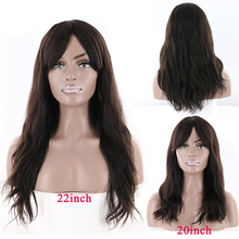Natural Wave Human Hair Wig With Bangs For Black Women KEMY HAIR 18-22inch Middl
