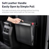 Baseus Car Trash Can Garbage Bag For Auto Back Seat Dustbin Waste Rubbish Basket Organizer Storage Bag Car Accessories