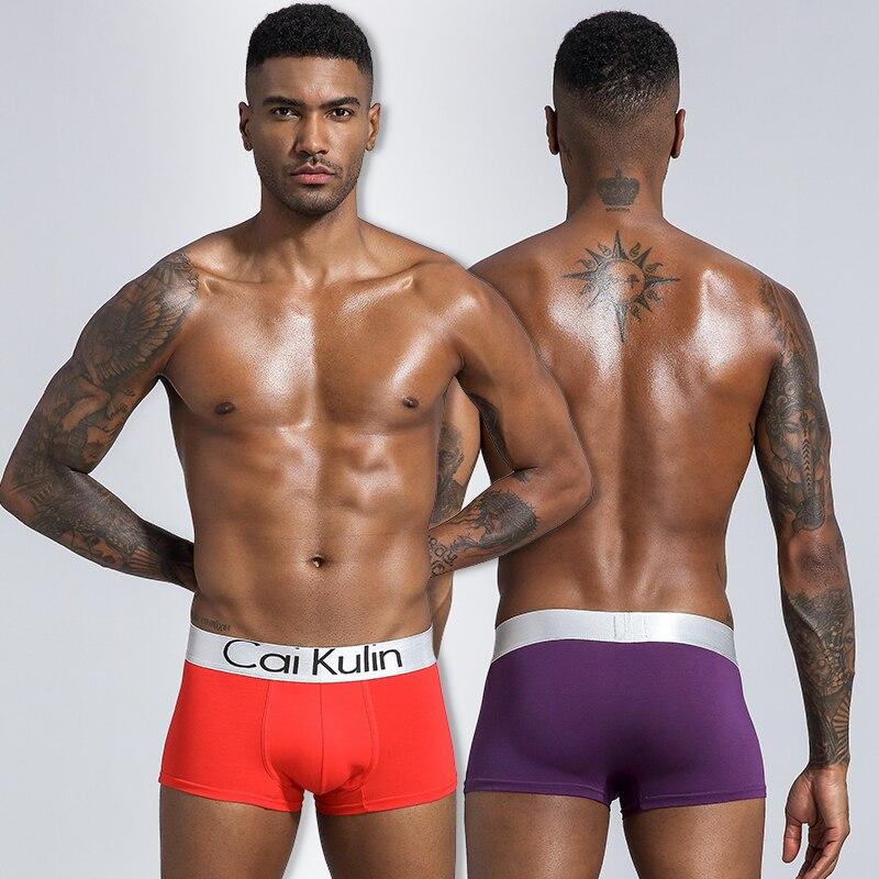 CAIKULIN marque mode coton hommes sous-vêtements boxeurs sous-vêtements solides respirant Boxer Shorts Sexy Cuecas mâle Boxershorts tronc