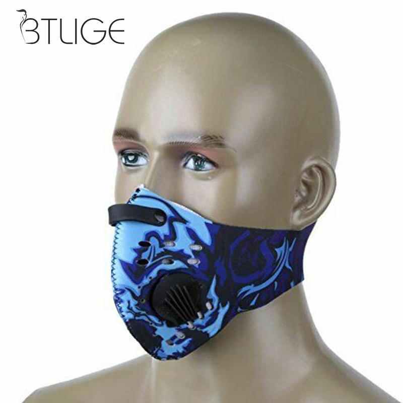 Fashion Outdoor Cycling Face Mask Anti-dust Anti-pollution Mouth Mask Breathable Comfort Mask Cycling Running Protective Mask