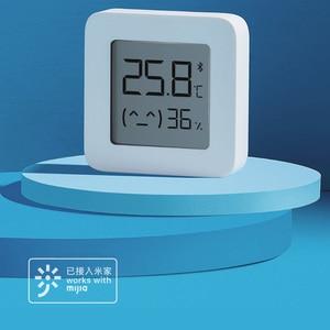 Image 2 - شاومي Mijia بلوتوث ميزان الحرارة الرقمي 2 اللاسلكية الذكية درجة الحرارة الرطوبة الاستشعار شاشة LCD الرقمية الرطوبة متر