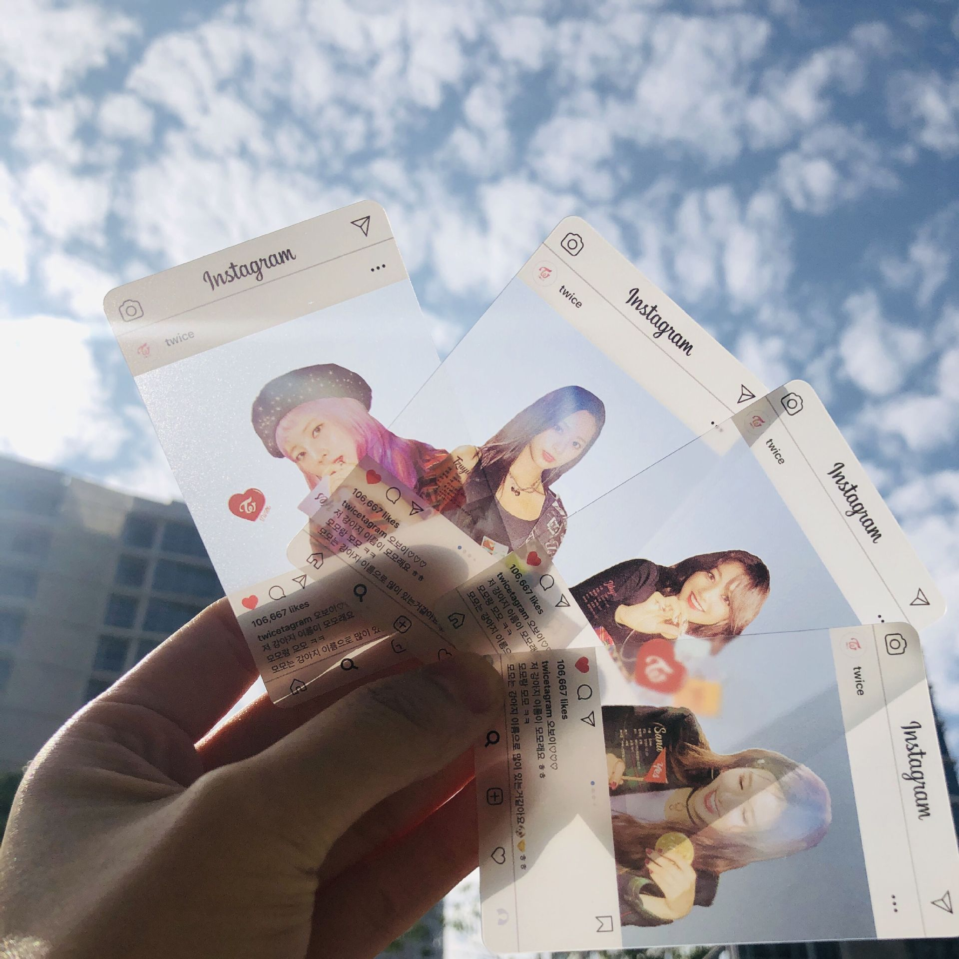TWICE Instagram Transparent Photocards 2020