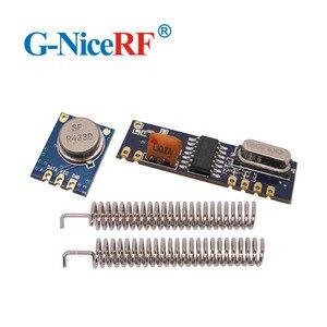 Image 1 - 10 zestawów 433MHz ASK moduł nadawczo odbiorczy zestaw SRX882 + STX882 + antena sprężynowa bezprzewodowy moduł RF 433MHz