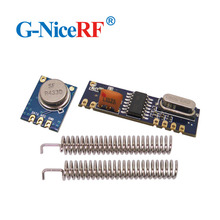 10Sets 433MHz ASK مثبت جهاز إرسال واستقبال عدة SRX882 + STX882 + ربيع هوائي لاسلكي RF 433MHz وحدة