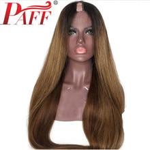 PAFF Brazilian 1B 30 Color Silky Straight U Part Human Hair Wigs  1*3 Ombre Remy Human Hair U Shape Two tone Middle Part жук к завтраки самые вкусные рецепты