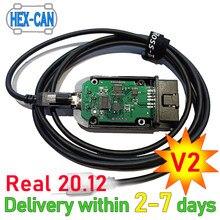 2021 realmente HEX-V2 vag com 20.4 vagcom 20.12.0 hex v2 interface usb para vw audi skoda assento vins ilimitados