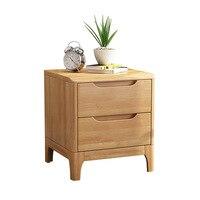 Living Room Bedside Table Nightstand Corner Cabinet Thailand Rubber Wood