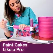 Bolo manual airbrush pistola de pulverização de decoração coloração cozimento decoração cupcakes sobremesas cozinha pastelaria ferramenta