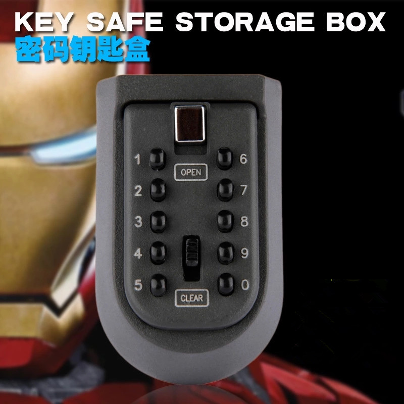 Key Safe Storage Organizer Box With Code Combination Lock Security Secret Stash 10-Digital Safety Locker Safes For Home Cabinet