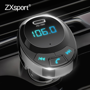 Car MP3 Player Charger Hands-free FM Transmitter Bluetooth PD 18W Car Phone Charger For Volvo XC60 XC90 S60 V70 S80 S40 V40 V50 image