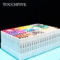 Touchfive 30 40 60 80 168 цветов набор маркеров эскизные маркеры кисть авторучка двойная головка набор художественных маркеров для рисования манга ан...