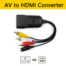 AV Ke HDMI 3RCA AV Komposit/CVBS Di HDMI Out Video Audio Converter Male To Famale Dukungan NTSC /Pal untuk Video Player PS4 Kamera DVD(China)