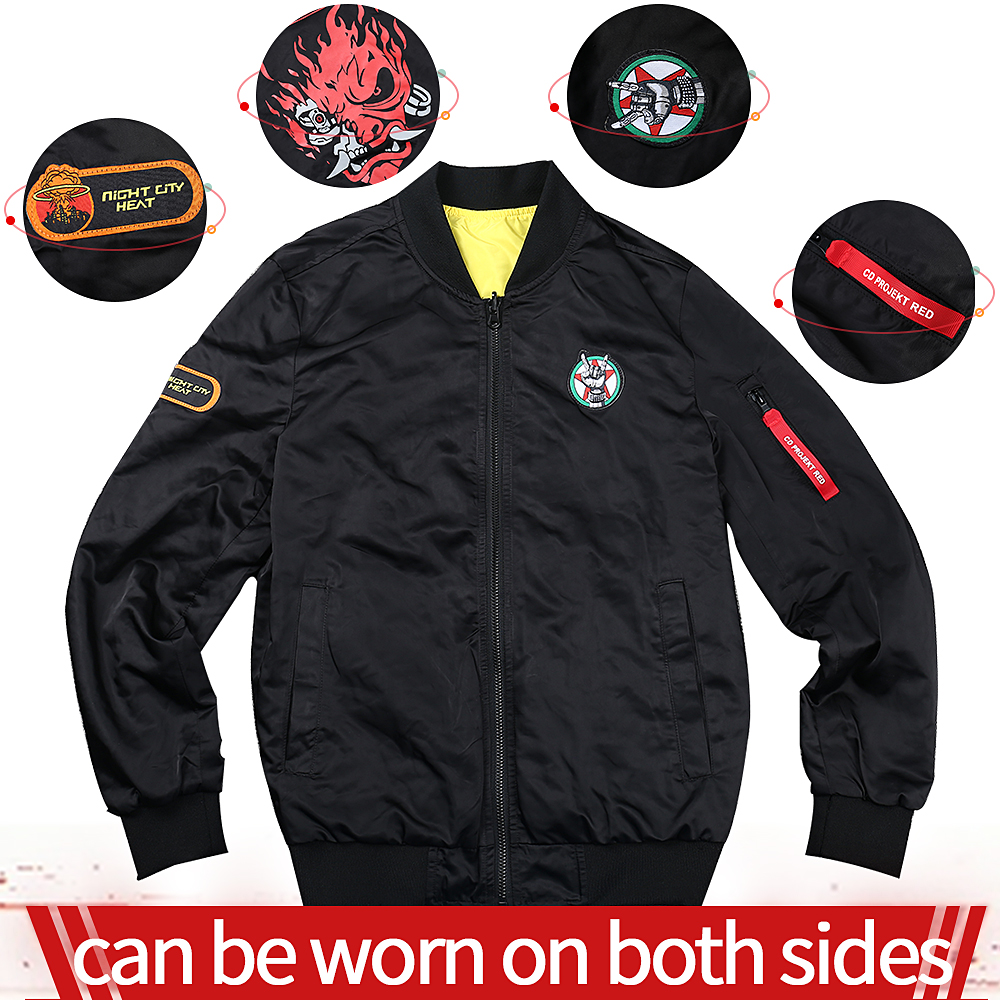 2020 Hot Game Night City Cosplay Costume Samurai Punk Jacket Unisex Adult Top Jacket Double-sided Clothes Halloween Party Props