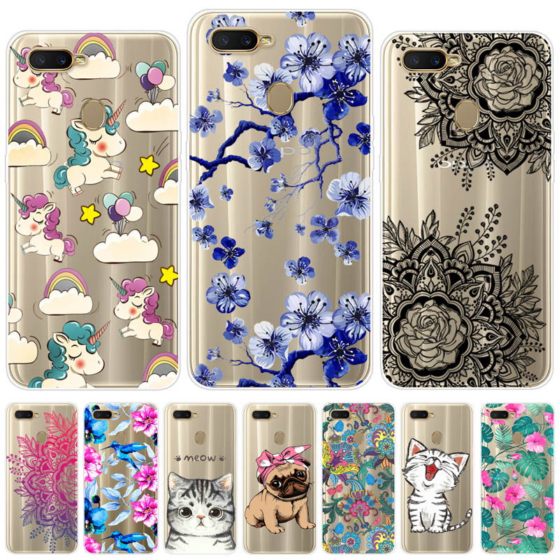 OPPO A5S Case Silicone TPU Protective Cover Soft Cartoon Print Phone Back Case For OPPO A5S A 5S CPH1909 OPPO AX5S Case