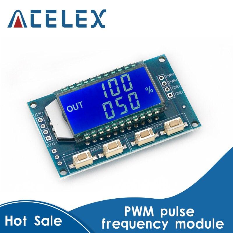 Генератор сигналов PWM частота импульсов рабочий цикл регулируемый модуль ЖК-дисплей Дисплей 1Hz-150Khz 3,3 V-30V PWM плата Модуль гибкий кабель