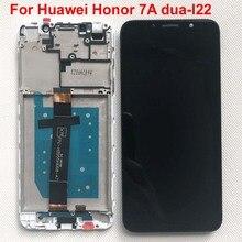 100% テスト AAA 5.45 オリジナル液晶 Huawei 社の名誉 7A dua l22 DUA LX2 Lcd ディスプレイタッチスクリーンデジタイザアセンブリのためのフレーム