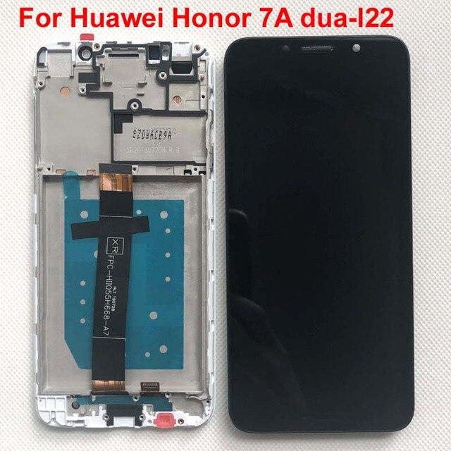 Pantalla LCD Original para Huawei Honor 7A Probado AAA, montaje de digitalizador con pantalla táctil con Marco, 100% dua l22, 5,45 pulgadas