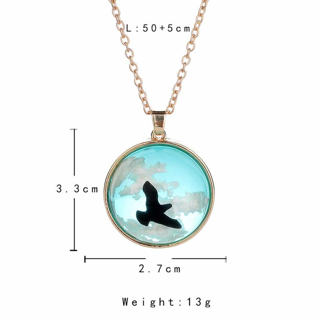 Mode Frauen Halskette Charme Blauen himmel weißen wolke Choker harz Lange Kette Halskette Schmuck Exquisite Schmuckstück Halsketten Drehmoment