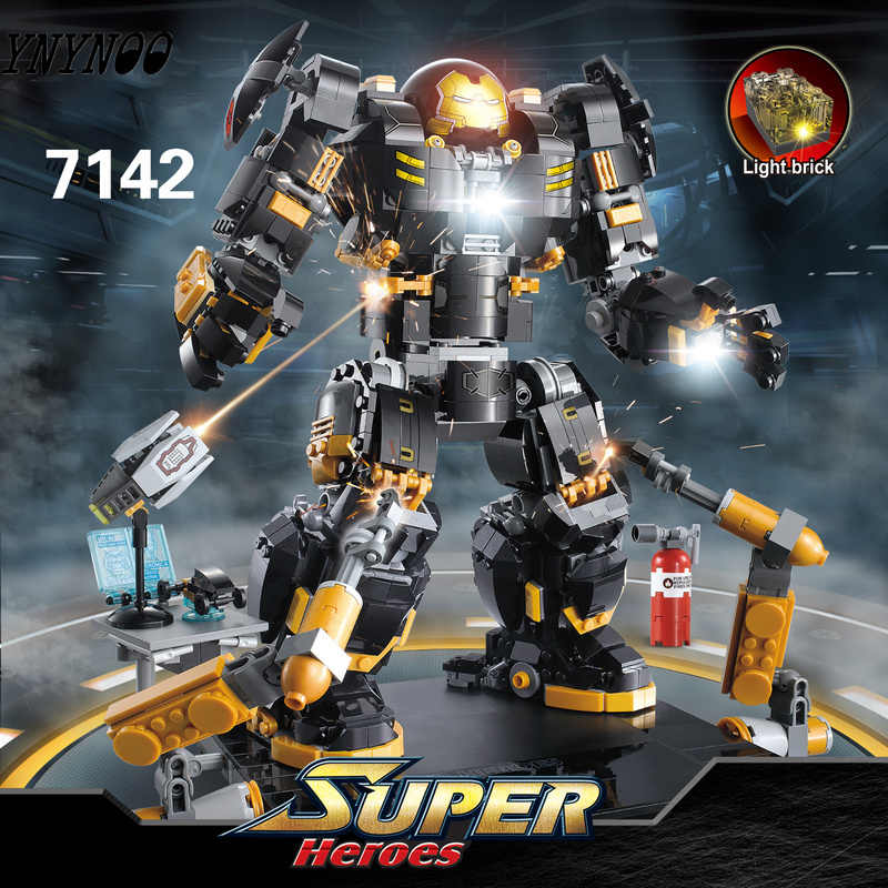 1697pcs Iron Man Hulkbuster 76105 Marvel Avengers Super Heroes Model Building Blocks Compatible with LEGOing Boys Birthday