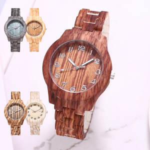 Design Watch Clock Wooden Quartz Bamboo Luxury Gifts Xmas Valentine's-Day New-Year