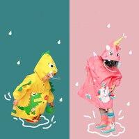 High-End-Kinder Regenmantel Mode Einhorn Wasserdichte Regenmantel Für Kinder Junge Mädchen Schule Studenten Regen Poncho Jacke Doppel Krempe