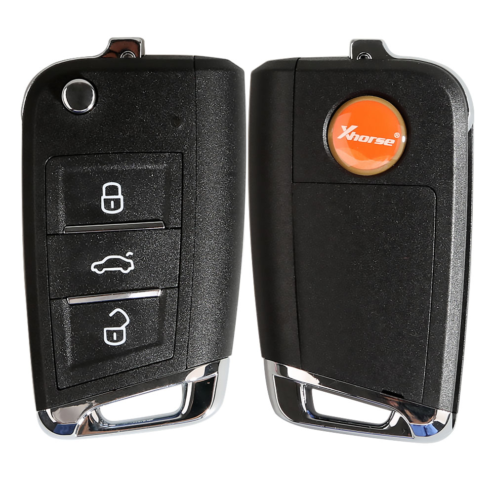 Xhorse for VW <font><b>MQB</b></font> Style Flip Transponder <font><b>Key</b></font> 3 Buttons XKMQB1EN 10pcs/lot image