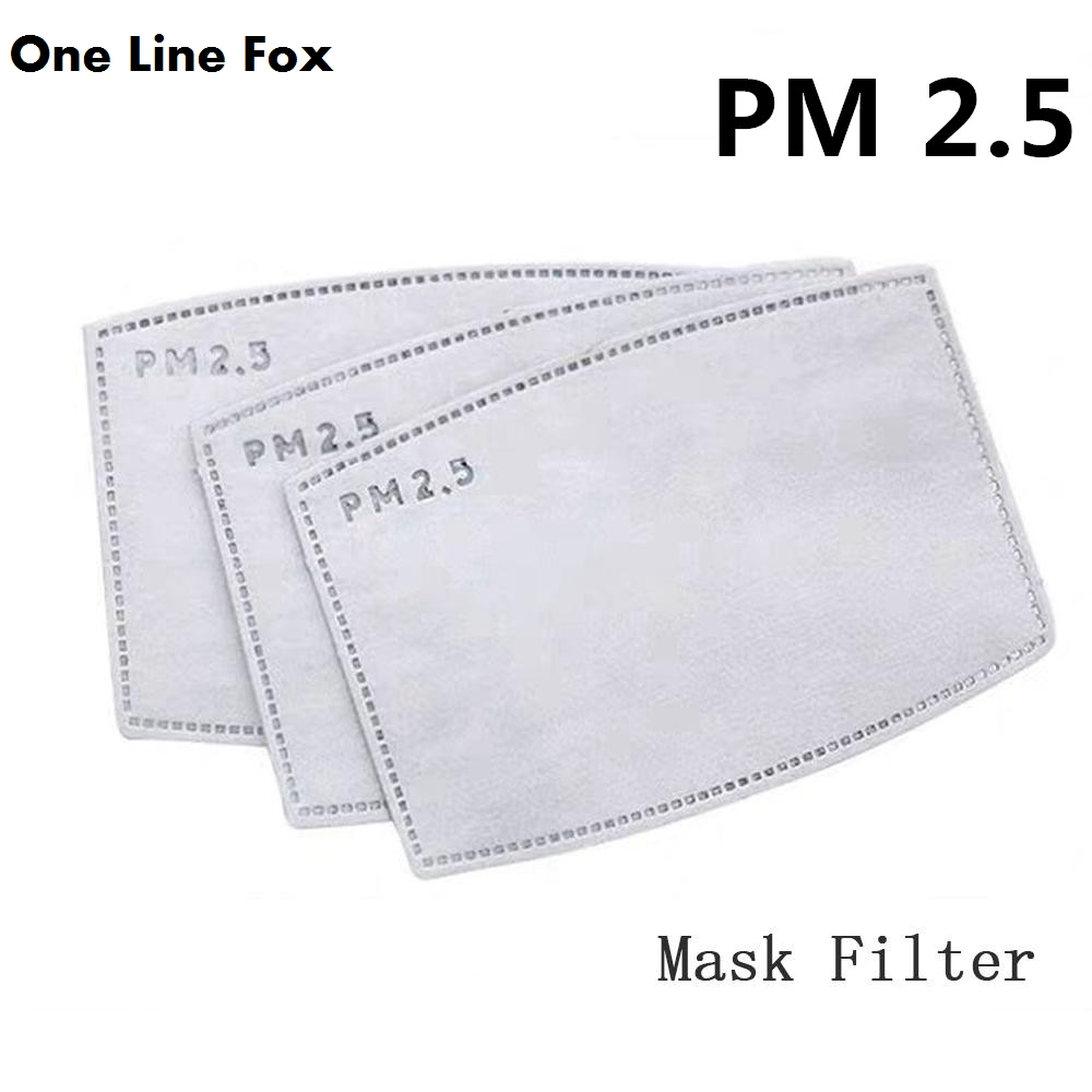 OneLineFox 10PCS 5-layer Protective Filter Anti Dust Mask Filter PM2.5 Adult Child Mask Chip Dustproof Haze Prevention