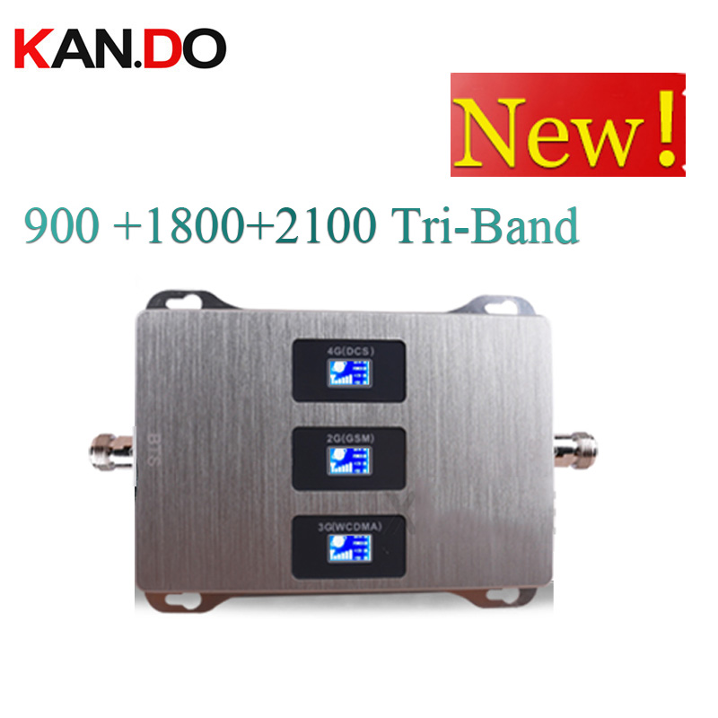 900 1800 2100 Mhz Cell Phone Booster Tri Band Mobile Signal Amplifier 2G 3G 4G LTE Cellular Repeater GSM DCS WCDMA