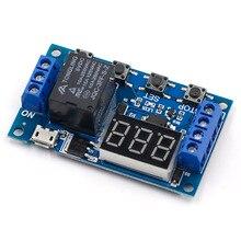 DC 6-30 в Поддержка Micro USB 5 В светодиодный дисплей Автоматизация таймер задержки цикла контроль выключения реле времени задержки 6 в 9 в 12 В 24 В