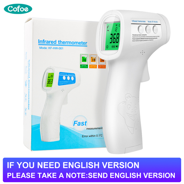 Cofoe  Forehead Thermometer Non Contact Infrared Thermometer Body Temperature Fever Digital Measure Tool for Baby Adult 1