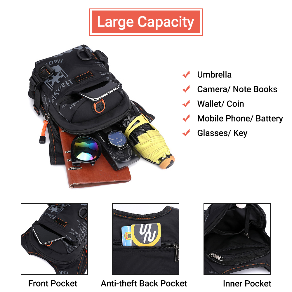 Men Waterproof Crossbody Bag Hunting Accessories Tactical Drop Leg Bag Waist Nylon Motorcycle Pocket